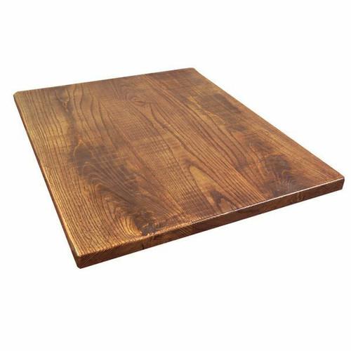 "TopShield™ Table Top, 1-1/4"" thickness, rustic wood, light walnut finish"