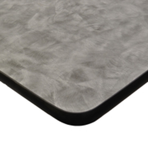 "Table Top, laminate surface, standard vinyl T-mold edge, 1-1/8"" core of industrial grade particle board, Standard Wilsonart Laminate"