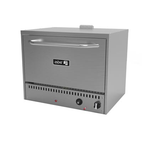"""Pizza Oven, natural gas, countertop, 36""""W, (2) ceramic stones adjustable in (3) positions, stainless steel interior with 650° F thermostat, automatic shut-off, spark ignition, porcelain door & floor, stainless steel front, top & sides, 30,000 BTU, cETLus, Made in North America (ships with LP conversion kit)"""