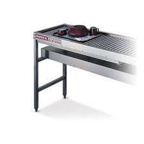 Dinex DXIESR18 18 Ft Tray Make-Up Roller Conveyor