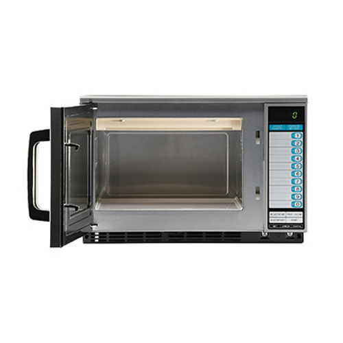 Microwave Oven, 1200 watts, 0.7 cu. ft. capacity, stainless steel door, cavity & outer wrapper, dual magnetron system, programmable timer, durable side-hinged see-thru door, Express Defrost™, 10 computerized touch pads, 11 power levels, 20-pad cap., SelectaPower™, 3-stage cooking, double quantity, 120v/60/1-ph, 17 amp, NEMA 5-20P, UL, NSF