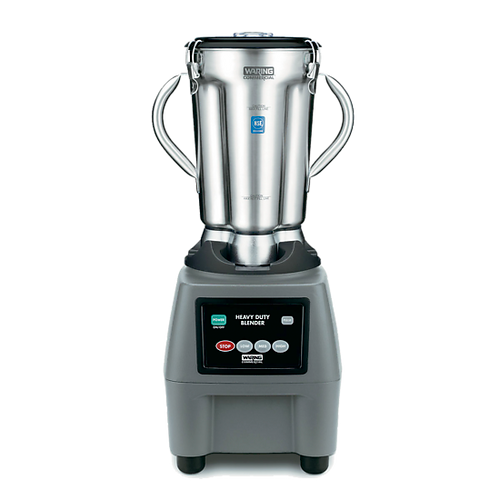 """Food Blender, heavy-duty, 14-7/8""""W x 15""""D x 26""""H, (1) gallon capacity, electronic membrane keypad, 3-speed with plus pulse, removable stainless steel container with (2) handles, clear lid, die cast base, 3-3/4 HP, 120v/60/1-ph, 15 amps, cETLus, NSF, Made in USA"""
