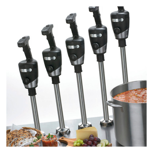 """Big Stix® Immersion Blender, heavy duty, 40 qt. (10 gallon) capacity, 12"""" stainless steel removable shaft, variable speed motor, continuous ON feature, rubberized comfort grip, 1 HP, 120v, 750W, 6.25 amps, NSF"""