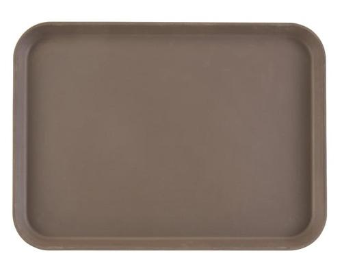 "Camtread® Serving Tray, rectangular, 10-5/8"" x 13-3/4"", dishwasher safe, fiberglass with non-skid surface, tavern tan, NSF"