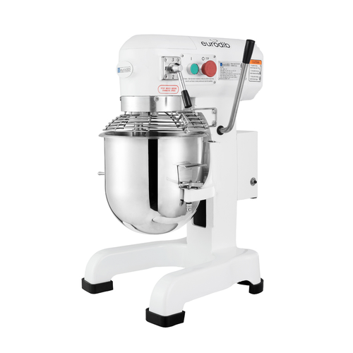 Planetary Mixer, 10 quart capacity, 3 speeds, gear driven, stainless steel bowl, whip, hook & beater, cast aluminum, 0.7 HP, 600 watts, 110v/60/1-ph, 6 amps, cETLus (not recommended for pizza, pita dough or any equivalent product)