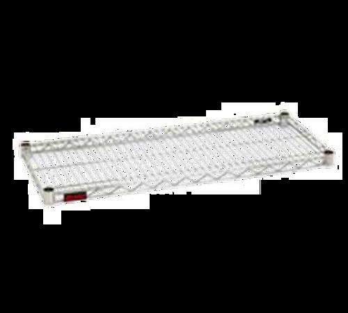 "Shelf, wire, 72""W x 18""D, patented QuadTruss® design, includes (4) pairs of split sleeves per shelf, 600 lbs. capacity, EAGLEbrite® zinc finish, NSF"