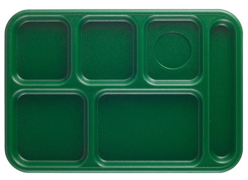 """Penny-Saver School Tray, 6-compartment,  10"""" x 14-1/2"""", rectangular, full portion, textured surface, scratch resistant, dishwasher safe, co-polymer"""