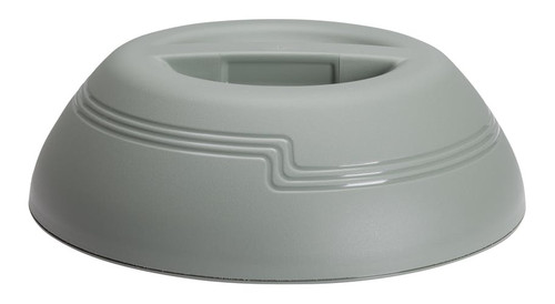 """The Shoreline Collection Dome, insulated, fits 9"""" plate, outside dia. 10-1/4"""", 3-3/16""""H, meadow, polypropylene"""