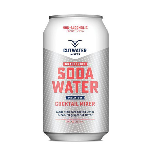 Cutwater Spirits Grapefruit Soda Water Mixer (4 Pack – 12 Ounce Cans)
