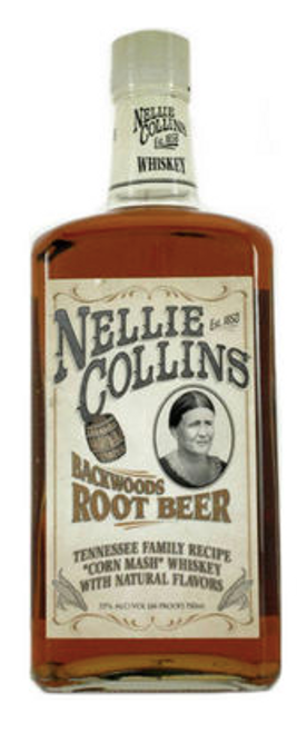 Buy NELLIE COLLINS BACKWOODS ROOT BEER WHISKEY online at sudsandspirits.com. Crafted with 100% GMO Free Corn, 100% Gluten Free, 100% Natural Root Beer Flavors