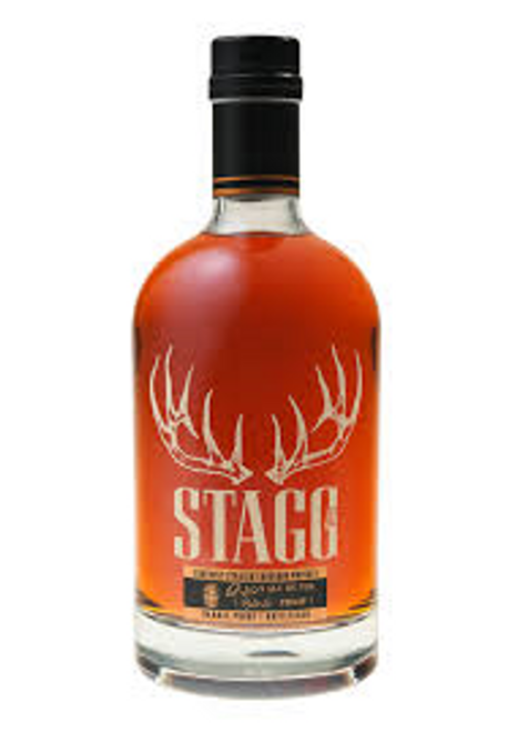 Buy Stagg Jr Bourbon online at sudsandspirits.com and have it shipped to your door nationwide. Stagg Jr. Bourbon is rich with sweet, chocolate and brown sugar flavors that mingle in perfect balance with the bold rye spiciness. The boundless finish lingers with hints of cherries, cloves and smokiness.