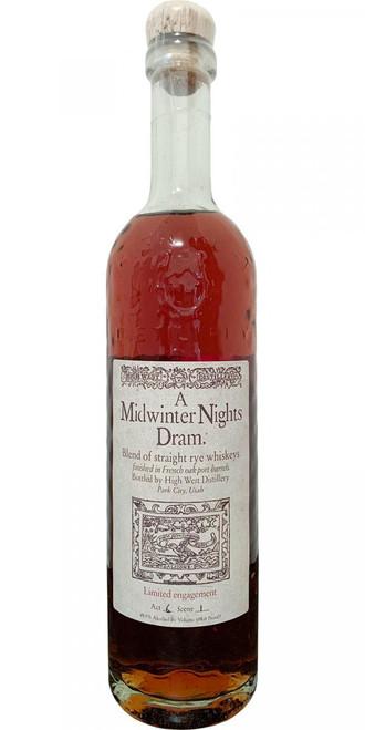 High West Distillery A Midwinter Night's Dram  (750ml)