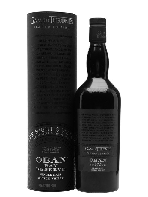 Oban Bay Reserve Game of Thrones Night's Watch Highland Whisky  (750ML)