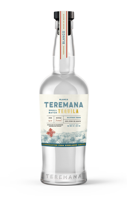 """Buy Teremana Blanco Tequila Launching online at sudsandspirits.com and have it shipped to your door nationwide. Teremana Tequila is Small Batch, Gluten Free, 100% agave is Handcrafted from Highlands Agave Teremana Tequila is a new tequila brought to you by Dwayne """"The Rock"""" Johnson's distilled in handmade copper pots. Makes a great gift for any """"The Rock"""" lover or a great new tequila for the tequila connoisseur."""