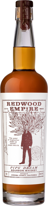Buy Redwood Empire Pipe Dream Bourbon Whiskey online at sudsandspirits.com and have it shipped to your door nationwide. Redwood Empire Pipe Dream Bourbon Whiskey is Named for the 14th tallest tree on the planet, Pipe Dream is our first Bourbon whiskey. Pipe Dream Bourbon is made from a high corn mash-bill and blended from barrels aged between four and twelve years. Smooth and complex, it is a true sipping whiskey.