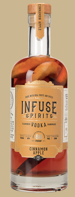 "Buy The World's Best Cinnamon Spirit, Infuse Spirits Cinnamon Apple online at sudsandspirits.com. Winner of  ""Double Gold & Best-In-Show 'Flavored' Vodka 2014"" San Francisco World Spirits Comp"