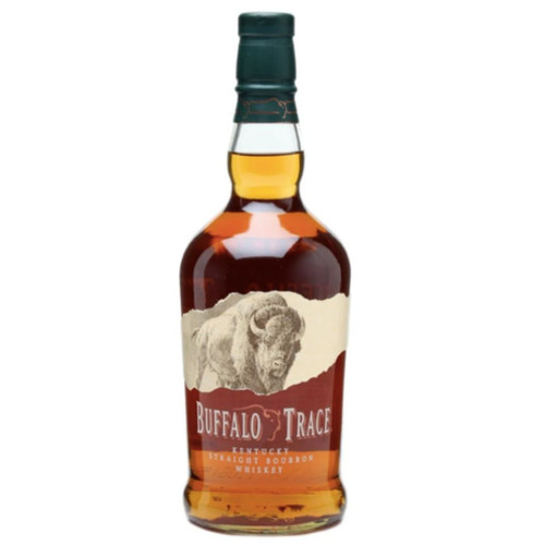 Buy Buffalo Trace Kentucky Straight Bourbon Whiskey online at sudsandspirits.com. Buffalo Trace is distilled, aged and bottled at the most award-winning distillery in the world. it is created from the finest corn, rye and barley malt, this whiskey is aged in new oak barrels for years in century old warehouses until the peak of maturity. All of this gives it a rich and complex, with hints of vanilla, toffee and candied fruit. The smooth finish lingers on the palate. This will never change.