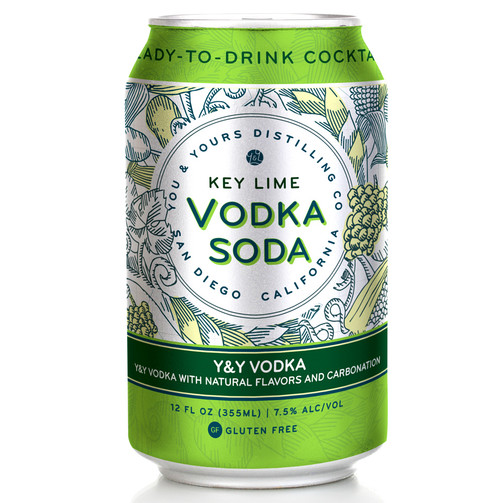 Key Lime Vodka Soda (4 Pack - 355ml). This ready-to-drink cocktail goes exceptionally well with Key Lime Pie, white sand beaches, crystal clear water, and a spicy beach read. The tropical sweetness of Key limes is made better only by adding our 100% grape-based and distilled on-site Y&Y Vodka and a touch of fizziness.