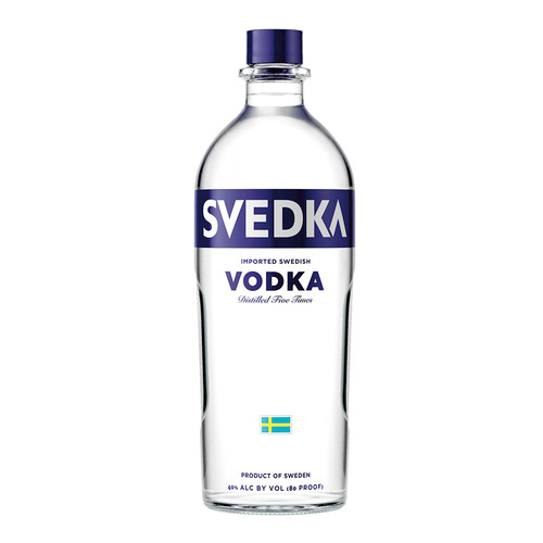 SVEDKA Vodka is smooth and easy drinking with a subtle, rounded sweetness that's ideal for mixing cocktails. Crafted using the finest spring water and Swedish winter wheat, this vodka is distilled five times to remove impurities. Continuous distillation ensures that ingredients are constantly moving and the winter wheat, yeast and water never stall or pool. The result is a bottle of vodka with a pure, clear taste and crisp finish with a balanced body, making it a bold, crowd-pleasing choice.