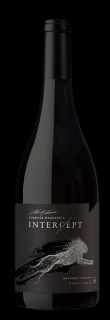 Buy Charles Woodson Intercept Wine Pinot Noir online at sudsandspirits.com and have it shipped to your door nationwide.  Garnet in color, with aromas of strawberry, pastry cream, and nutmeg. This wine is medium-bodied with dusty fine-grained tannins and a long juicy finish. Enjoy with grilled salmon, braised duck, or stuffed Portobello mushrooms. It is fermented in stainless steel with malolactic aging done in barrels, aged in French and European oak for 14 months.