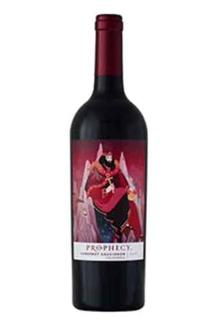 Buy Prophecy California Cabernet Sauvignon online at sudsandspirits.com and have it shipped to your door nationwide.  Prophecy California Cabernet Sauvignon is a beautiful wine, inside and out. This wine is expressive and smooth with layered flavors of blackberry, plum and oaky notes of graham cracker. Pairs with grilled meats or sliders, anything with mushrooms, blue cheese, and salads and appetizers with balsamic or roasted garlic.