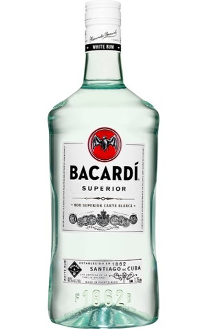 Buy Bacardí, Superior White Rum online at sudsandspirits.com and have it shipped to your door nationwide. Bacardí, Superior White Rum is made with distinctive vanilla and almond notes which are developed in white oak barrels and shaped through a secret blend of charcoal for a distinctive smoothness.