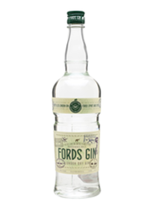Buy Fords Gin online at sudsandspirits.com and have it shipped to your door nationwide. Fords Gin is a collaboration between 8th generation Master Distiller Charles Maxwell of Thames Distillers and Simon Ford, dedicated to creating spirits designed in unison with professional bartenders and celebrated distillers from around the world. A thoughtful mix of nine botanicals, Fords Gin starts with a traditional base of juniper & coriander seed balanced by citrus, florals and spices. Steeped for 15 hours before distillation, the botanicals deliver an aromatic, fresh and floral spirit with elegant notes of jasmine and grapefruit that creates a versatile base for any gin-inspired cocktail.