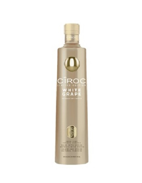 Ciroc White Grape is a rich tasting spirit made with vodka five times distilled from fine French grapes, finished in a tailor-made copper pot still in Southern France.