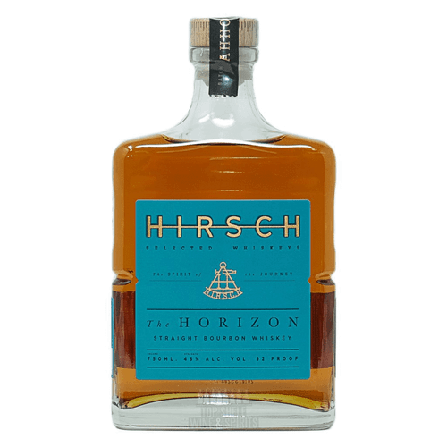 Buy Hirsch The Horizon online at sudsandspirits.com and have it shipped to your door nationwide. Hirsch The Horizon combines two straight bourbons distilled in Lawrenceburg, IN, the company said. Each bottle of THE HORIZON, 92 proof, provides the exact batch specifications on the rear label, for the bourbon enthusiast who seeks that level of detail, they said. The inaugural batch, AHH0320, is made up of two components: 94% of the blend is distilled from a traditional mash bill of 75% corn, 21% rye, 4% malted barley aged  5 years and 4 months; the remaining 6% is distilled from a high-rye mash aged 6 years and 2 months for added complexity.