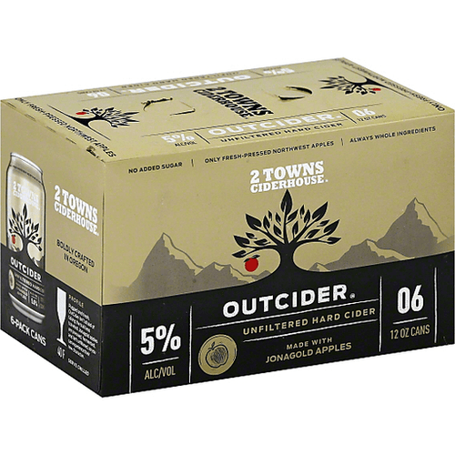 2 Towns OutCider Cider 6-Pack Can (12oz)