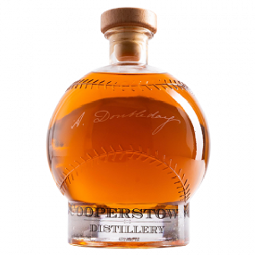 "Buy Doubleday Baseball Bourbon from Cooperstown Distillery online at sudsandspirits.com. Doubleday Baseball Bourbon is a blend of young and 5 year old bourbons, it drinks remarkably well, like a fine ""older"" bourbon should. Filled in our patented, specialty baseball decanter, this bourbon makes a great sipping spirit."