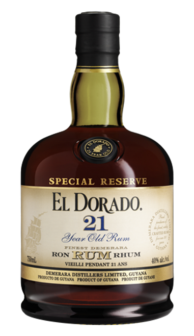 Buy El Dorado 21 Year old Special Reserve Rum online at sudsandspirits.com and have it shipped to your door nationwide.