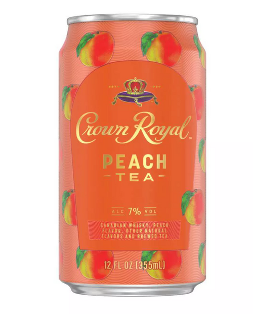 Buy Crown Royal Peach Tea Whisky Cocktail Can online at sudsandspirits.com and have it shipped to your door nationwide.