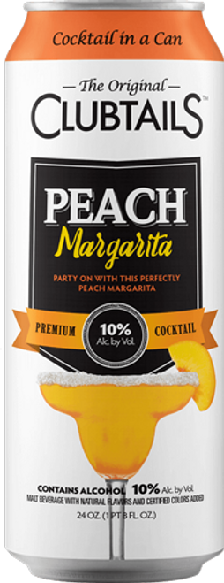 Buy Clubtails Peach Margarita online at sudsandspirits.com and have it shipped to your door nationwide.