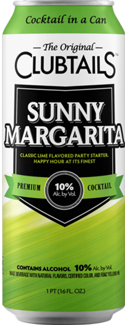 Buy Clubtails Sunny Margarita  online at sudsandspirits.com and have it shipped to your door nationwide.