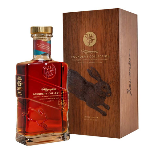 Buy Rabbit Hole Founders Edition Mizunara Oak Bourbon online at sudsandspirits.com and have it shipped to your door nationwide.
