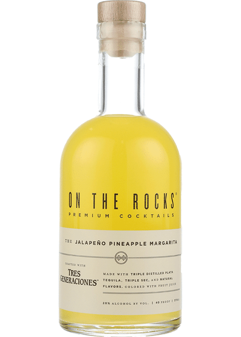 Buy  On The Rocks Jalapeño Pineapple Margarita (375ml) online at sudsandspirits.com and have it shipped to your door nationwide.