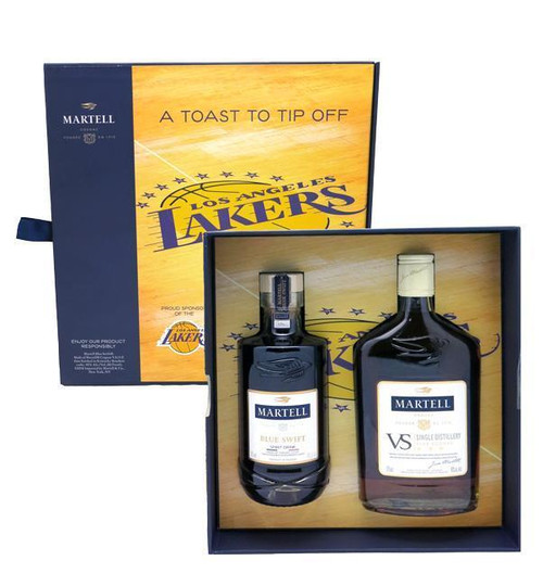 Buy  Martell Lakers Gift Set 2x375ml online at sudsandspirits.com and have it shipped to your door nationwide.