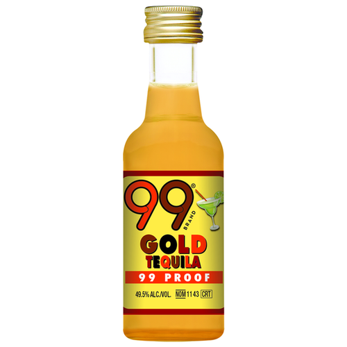 Buy 99 Gold Tequila Liquor (50ml) online at sudsandspirits.com and have it shipped to your door nationwide.