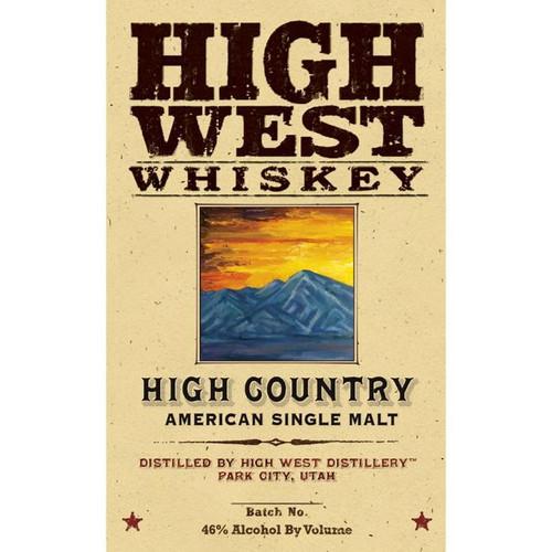 High West High Country American Single Malt
