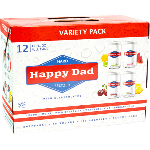 Buy Happy Dad Seltzer 12 Pack Nelk Boys online at sudsandspirits.com and have it shipped to your door nationwide.