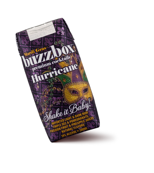 Buy BuzzBox Premium Cocktails Hurricane 4-Pack online at sudsandspirits.com and have it shipped to your door nationwide.
