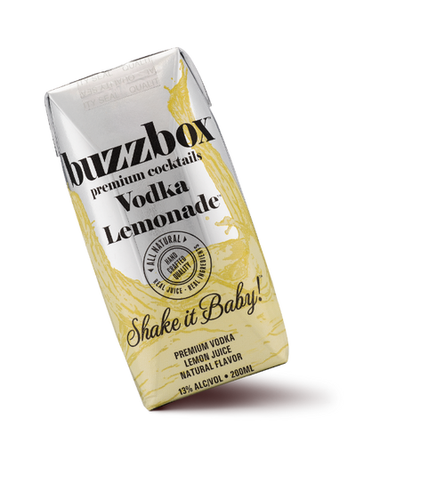 Buy BuzzBox Premium Cocktails Vodka Lemonade 4-Pack online at sudsandspirits.com and have it shipped to your door nationwide.