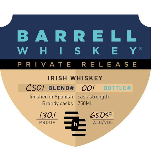 Barrell Private Release Irish Whiskey