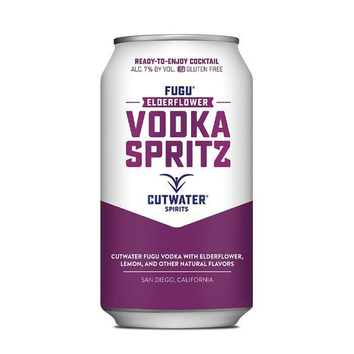 Fugu Elderflower Vodka Spritz (4 Pack - 12 Ounce Cans)