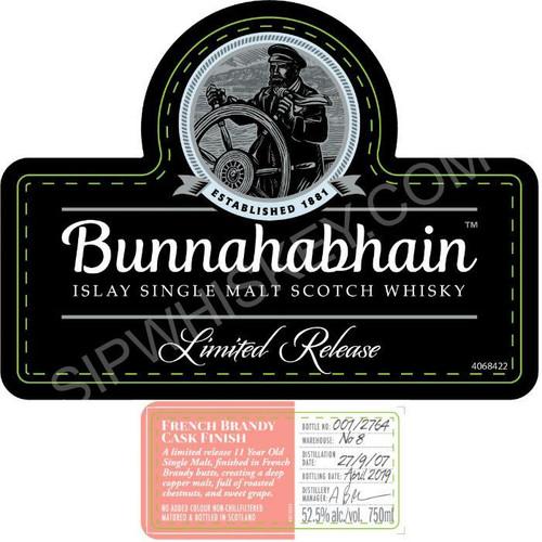 Bunnahabhain French Brandy Cask Finish