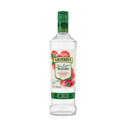 Smirnoff Zero Sugar Infusions Strawberry and Rose