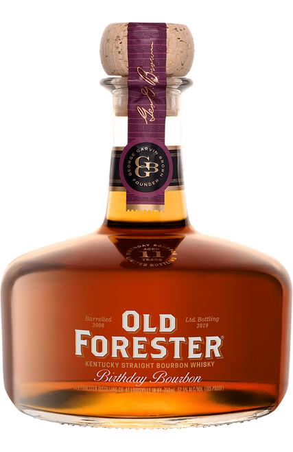 Buy OLD FORESTER 2019 BIRTHDAY BOURBON online at sudsandspirits.com and have it shipped to your door nationwide. The 2019 Birthday Bourbon is presented at 105 proof, the highest proof to-date for this special expression. After showing exceptionally unique character during a tasting panel, the 11-year-old barrels were chosen specifically for Birthday Bourbon.