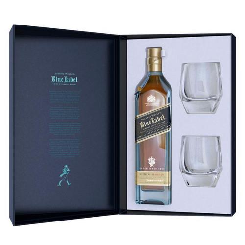 Johnnie Walker Blue Label Limited Edition Design Gift Set With Crystal Glasses