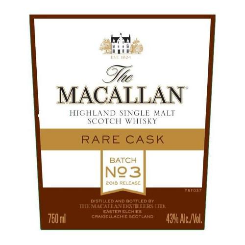 The Macallan Rare Cask Batch No. 3